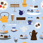 Coffee With Cream Seamless Vector Pattern Design