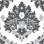 Damask Gris Seamless Vector Pattern Design