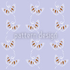 Attracting Butterflies Seamless Vector Pattern Design