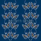 Lockende Schmetterlinge auf Blau Musterdesign