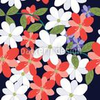 Blüten Und Blätter Rapportiertes Design