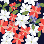 Flower Petals Seamless Vector Pattern Design