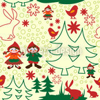 Dwarfs In The Forest Vector Ornament