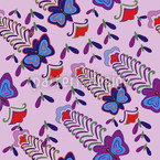 Butterfly Lilac Flush Seamless Vector Pattern Design