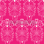 Pink Romance Seamless Vector Pattern Design