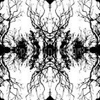 Dunkler Spiegel Nahtloses Vektormuster
