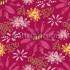Nula Fucsia Seamless Vector Pattern Design