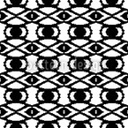 Die Augen Afrikas Nahtloses Vektormuster