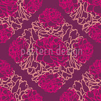 Rose Dream Aubergine Seamless Vector Pattern Design