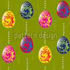 Embellished Easter Eggs Seamless Vector Pattern Design