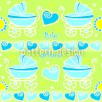 Neon Baby Blue Design Pattern