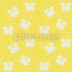 Violetta Yellow Seamless Vector Pattern Design