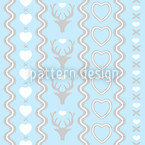 Mating Season Pastel Seamless Vector Pattern Design