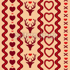 Mating Season Amor Seamless Vector Pattern Design
