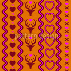 Mating Season Party Seamless Vector Pattern Design