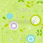 Liljana Verde Seamless Vector Pattern Design