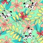 Catch The Butterfly Seamless Vector Pattern Design