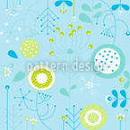 Liljana Azzurro Seamless Vector Pattern Design