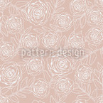 Rose Engraving Seamless Vector Pattern