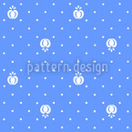 Vintage Fruits Seamless Vector Pattern Design