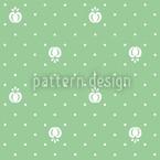 Früchtchen Auf Grün Musterdesign