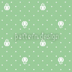 Fruits On Green Pattern Design