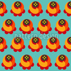 Buddy Orange Seamless Pattern