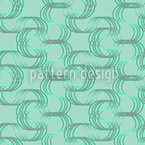 New Wave Green Seamless Vector Pattern Design