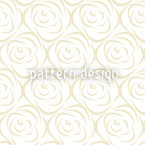 Rosabella Beige Seamless Vector Pattern Design