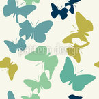 Time Of The Butterflies Vintage Seamless Vector Pattern Design