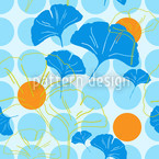 Ginkgo Dot Vector Ornament
