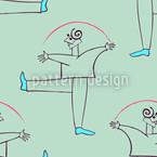 Danza Verde Design de padrão vetorial sem costura