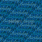 Happy Birthday Blues Pattern Design