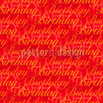 Happy Birthday Red Seamless Vector Pattern Design