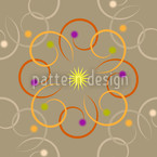 Galactica Beige Seamless Vector Pattern Design