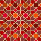 Marokko Rot Nahtloses Vektormuster