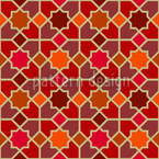 Morocco Red Seamless Vector Pattern Design