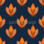 Orange Lotus Motif Vectoriel Sans Couture