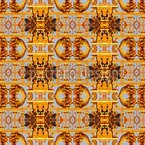 Schatz Der Azteken Nahtloses Vektormuster