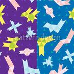 Horário de Origami Design de padrão vetorial sem costura