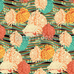 Florale Strömung Nahtloses Vektor Muster