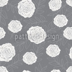 Mirabellas Winter Garden Seamless Vector Pattern Design