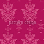 Jaipur Pink Seamless Vector Pattern Design