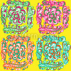 Sergeant Pepper Seamless Vector Pattern Design