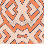 Afrorange Seamless Vector Pattern Design