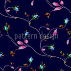 Rosen Ranken Nacht Musterdesign