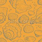 Meeresmuscheln Gold Nahtloses Vektormuster