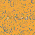 Seashell Gold Seamless Vector Pattern Design