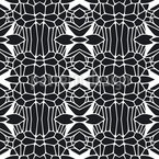 Free Form Black and White Seamless Vector Pattern Design