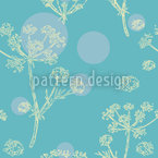 Flower Umbel Seamless Vector Pattern Design